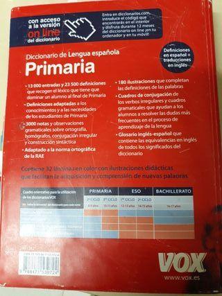 diccionario primaria lengua española Anaya