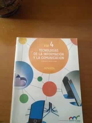 libro 4º ESO tecnologías de la informacion. Anaya