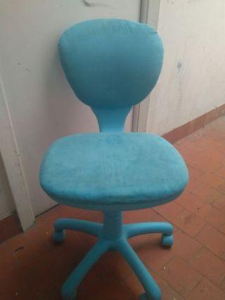 silla de escritorio azul turquesa