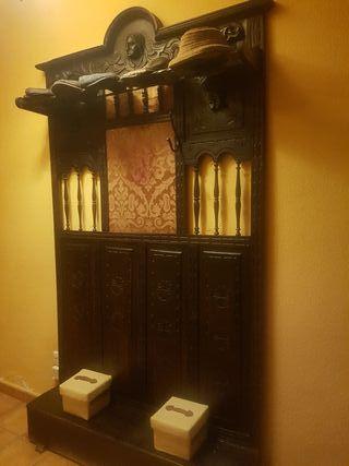 Perchero Sombrerero antiguo de pared