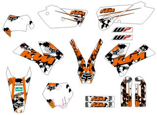 KIT PEGATINAS KTM 2005-07 EXC Y 04-06 SX, MX
