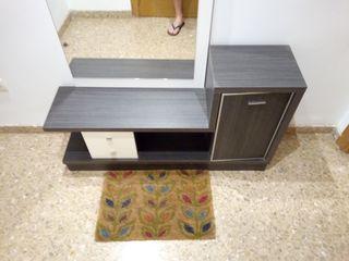 mueble de entrada +espejo