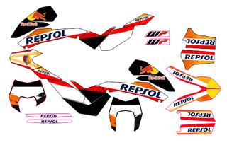 PEGATINAS PARA KTM 690 2008-2011, 2012-2018