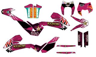 KIT PEGATINAS KTM 690 2008-2011, 2012-2018