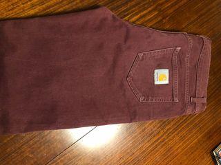 Pantalón carhartt burdeos. 31x32