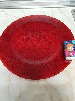 Plato decorativo cristal centro de mesa