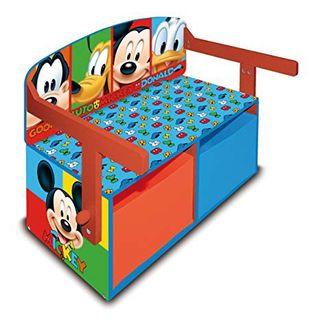 Banco, juguetero y mesa