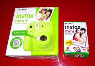 Cámara instantánea Fujifilm Instax Mini 9 + pack