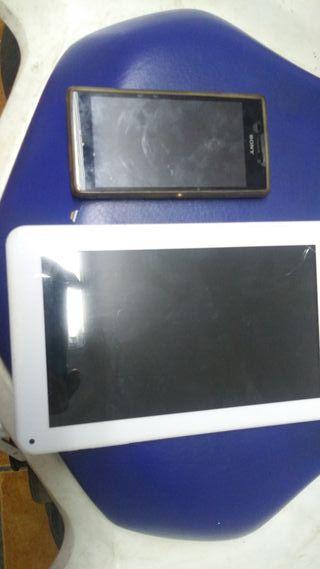 vendo tablet brigtom y movil Xperia u