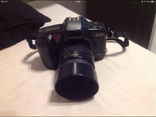 Cámara fotografía yashica y flash