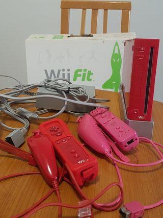 Oferta Wii roja + 2 mandos + juegos