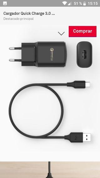 Cargador Bq 3.0 Carga Rapida Mas Cable C-(Nuevo)-