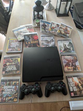 PlayStation 3 - 2 mandos y 13 juegos