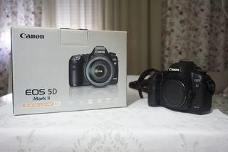 Canon eos 5D mark II + flash metz 44