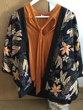 Kimono y blusa a conjunto talla L
