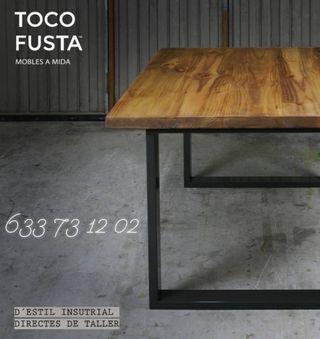 Mesas y muebles de madera maciza a medida