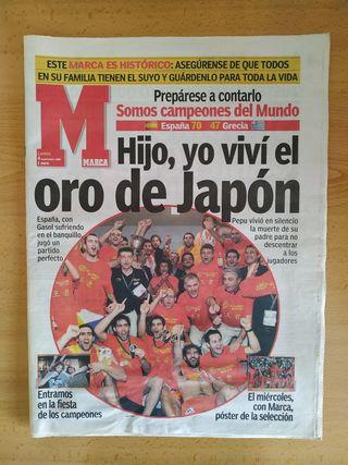 Marca y As España campeona del mundo de baloncesto