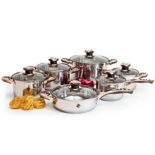 We Houseware - Batería de cocina 12 piezas - Acero