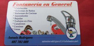 Fontaneria en general. reformas, Trabajos en Zinc.