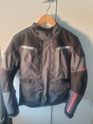 chaqueta moto mujer laminada Revit horizon 2 t38