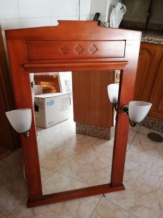 espejo de baño y armario