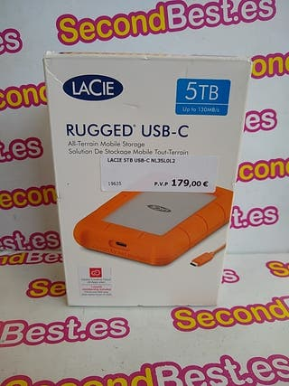 Disco duro Portátil USB-C LaCie 5TB