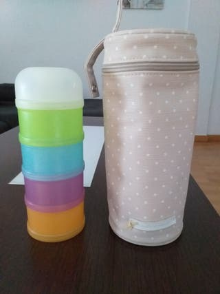 pack portabiberon y dispensador de leche