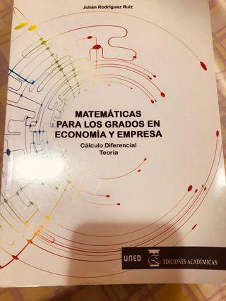 Matemáticas para los grados en economía y empresa