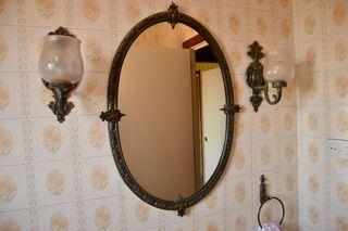 Apliques - 2 lámparas de baño, estilo antiguo