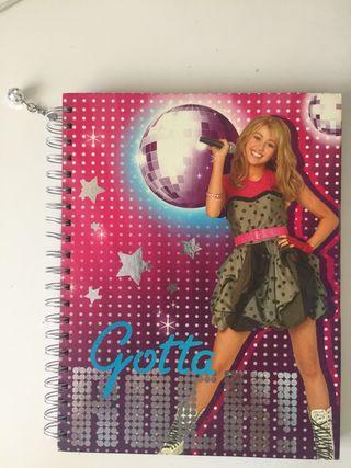 Libreta con gusanillo de Hannah Montana