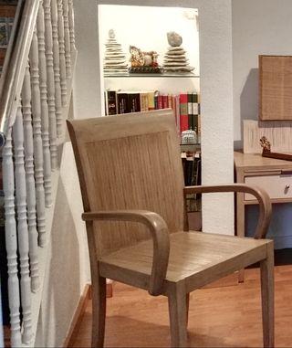 silla de bambú prensado