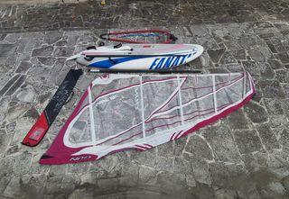 Equipo de windsurf principiante