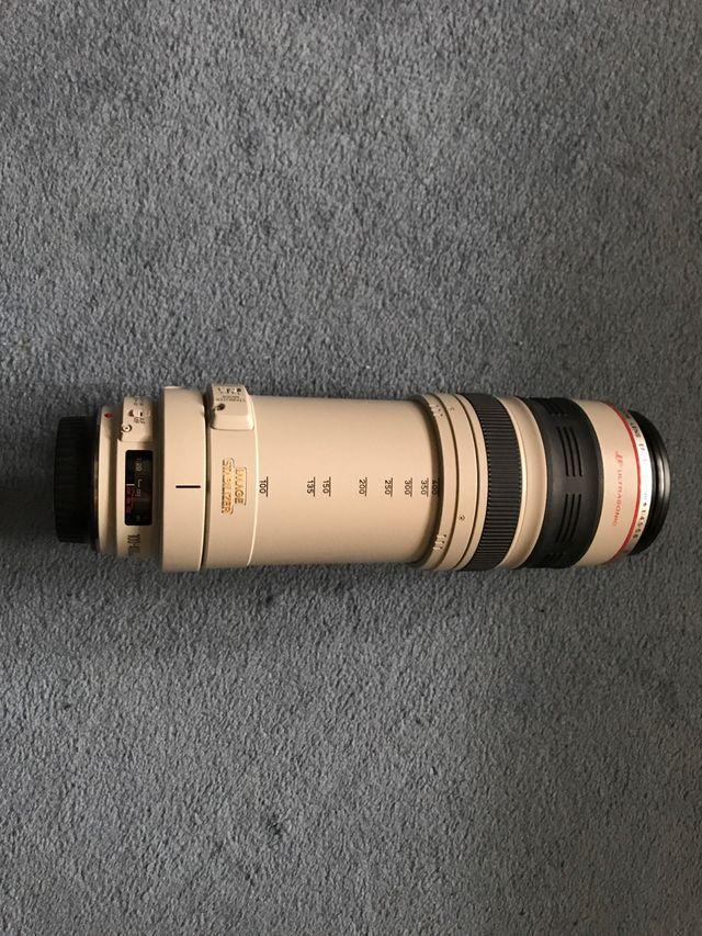 Canon EF 100-400mm f/4.5-5.6 L IS USM con funda