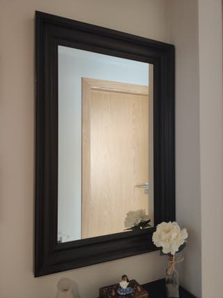 Espejo de madera maciza Hemnes como nuevo