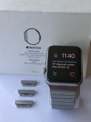 Apple Watch 42 ACERO y ZAFIRO correa ESLABONES