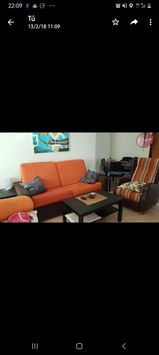 sofá cama+ 2 sillones
