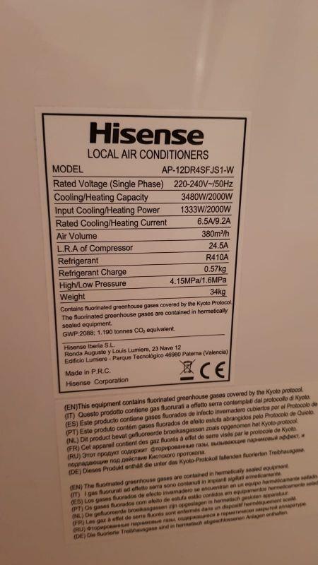 Aire acondicionado/ calefacción portátil