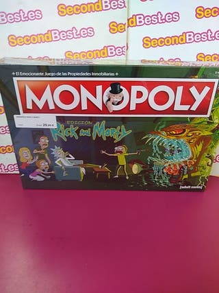 Juego de mesa Monopoly Rick and Morty nuevo