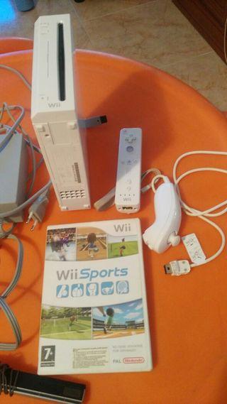 wii + mandos +juego sports