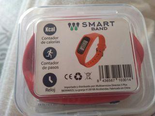 Reloj contador de pasos y calorías