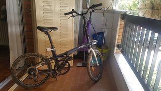 "Bicicleta plegable btwin paseo aluminio ruedas 20"""