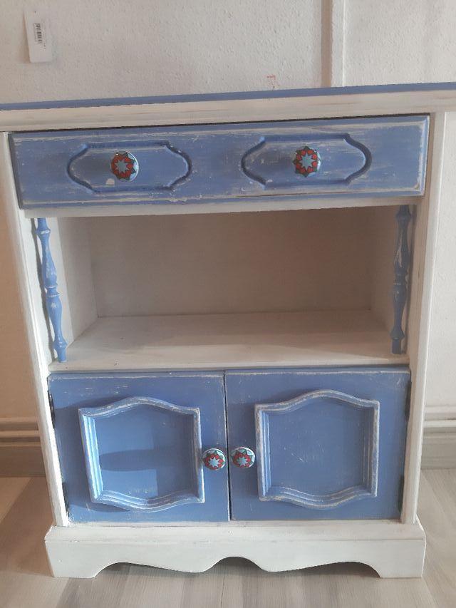 mueble entradita restaurado