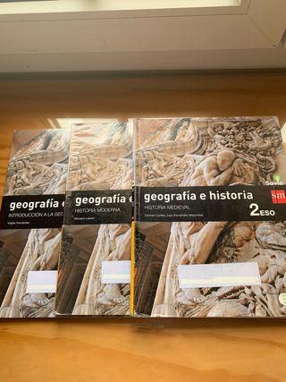 Libro Geografía e Historia 2 Eso Savia SM