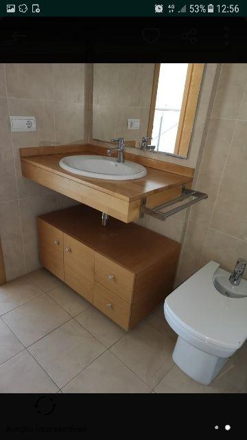 Mueble baño con lavabo encastrado de segunda mano por 148 ...
