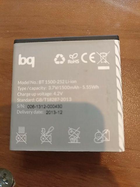 2 baterías bq Aquaris 4.