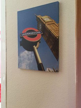 Cuadro metro London 40 x 30 esta nuevo