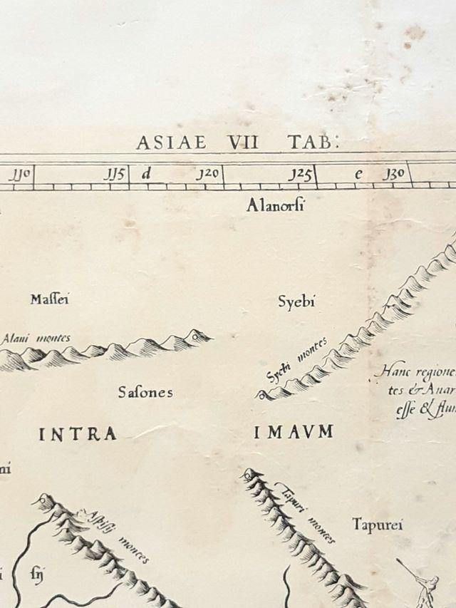 2 mapas de la antigüedad, reproducciones de 1975