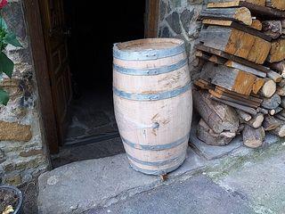 barrica de sidra de madera