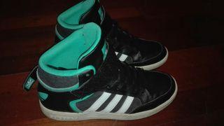 Zapatillas adidas originals varial mid negro/verde