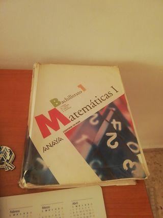 libro de matematicas 1 bachillerato anaya